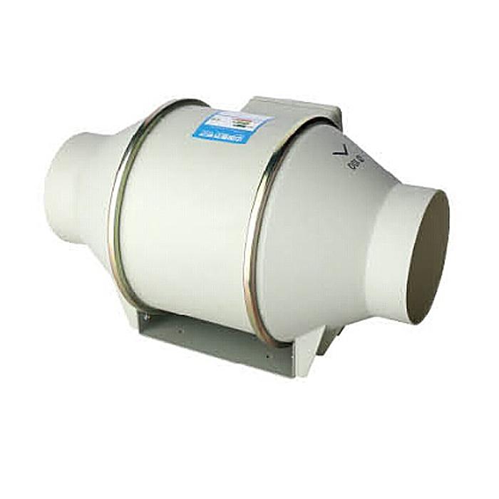 Ventilador de conducto giratorio de refuerzo de ventilación de plástico de 100MM