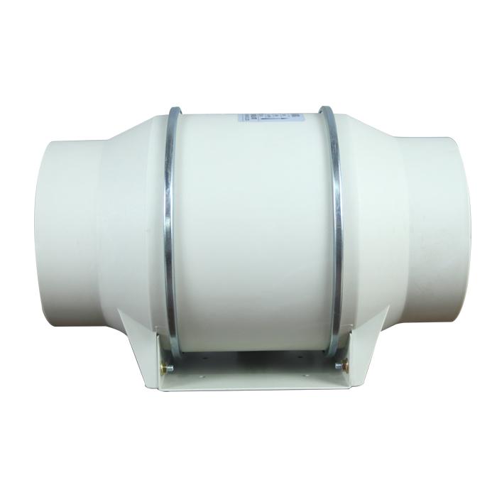 Ventilador de tubo de ventilación de plástico reforzador en línea de 150MM
