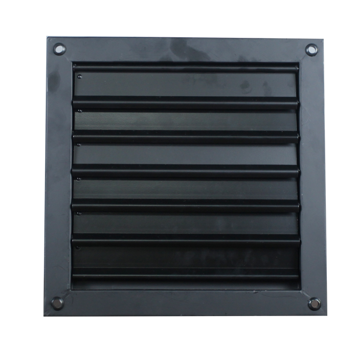 250MM Ventiladores de extracción de pared de montaje en obturador industrial de