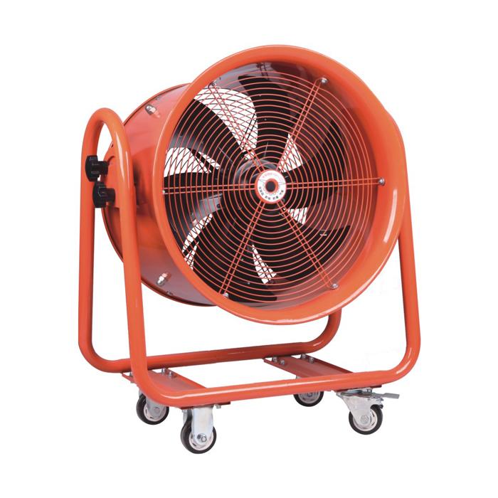 600MM Ventilador de flujo de conducto de ventilador axial móvil de